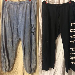 Clearance VS Pink sweatpants: stains Large lot